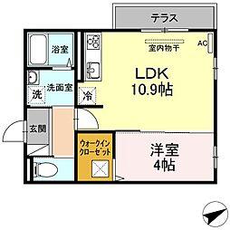 (仮)D-room山本3丁目[102号室]の間取り