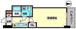 セレニテ桜川駅前プリエ 10階1Kの間取り