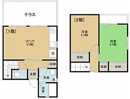 カームハイツA棟[1階]の間取り