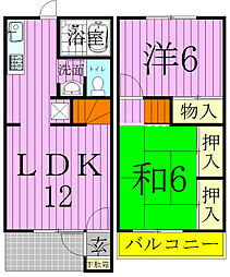 [テラスハウス] 千葉県松戸市日暮5丁目 の賃貸【/】の間取り
