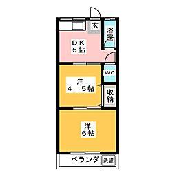 東和荘[1階]の間取り