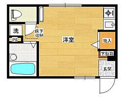 東京都北区中十条2丁目の賃貸アパートの間取り