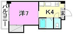ミラハイツ枝松[107 号室号室]の間取り