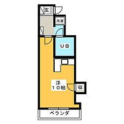 CHISANコートハウス金座町[3階]の間取り