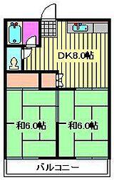 芝富士コーポ[A-202号室]の間取り