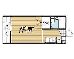 京成本線 公津の杜駅 徒歩25分の賃貸アパート 2階ワンルームの間取り