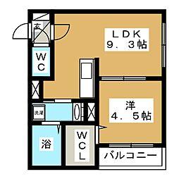 北海道札幌市東区北三十三条東13丁目の賃貸マンションの間取り