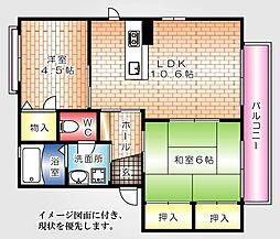 フローレンスNEW YAMATO--[201号室]の間取り
