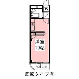 メゾンヤマザキ[202号室]の間取り