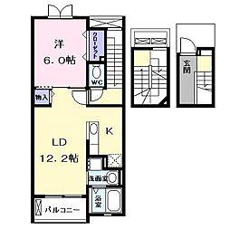 カルムエミー (カルムエミー)[3階]の間取り