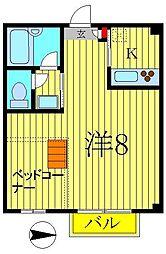 TX青山[2階]の間取り