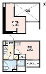 ボヌールクマタ[1階]の間取り