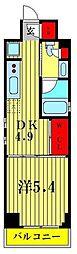 JR総武線 亀戸駅 徒歩7分の賃貸マンション 2階1DKの間取り