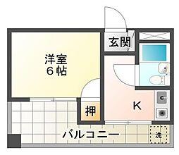 静岡県三島市本町の賃貸マンションの間取り
