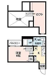 グランフォレスト[2階]の間取り