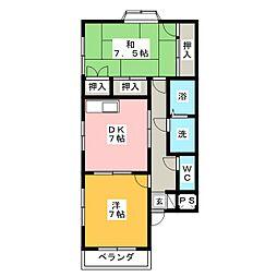リヴ・メゾン[2階]の間取り