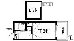 兵庫県川西市霞ケ丘2丁目の賃貸アパートの間取り