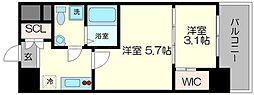 セレニテ福島シェルト[2階]の間取り