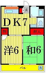 パールマンション美奈元[203号室]の間取り