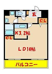 中西第3マンション 1学生[206号室]の間取り