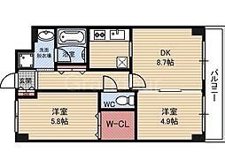 フォルム城東中央[6階]の間取り