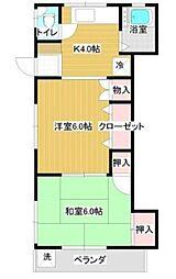 第三川信荘 bt[101kk号室]の間取り
