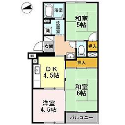 ハイツジュノ301号室[3階]の間取り