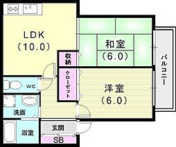 兵庫県神戸市垂水区西舞子3丁目の賃貸マンションの間取り