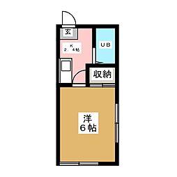 シャンブル8[2階]の間取り