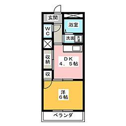 エスポワール名城[3階]の間取り