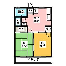 メゾンハッピーズ[1階]の間取り