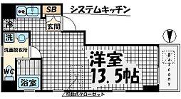 HF東心斎橋レジデンス[7階]の間取り