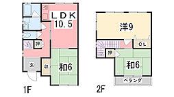 [一戸建] 兵庫県姫路市御立東 の賃貸【兵庫県/姫路市】の間取り