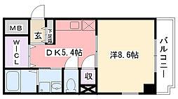 兵庫県西宮市里中町1丁目の賃貸マンションの間取り