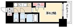 メイクス矢場町 10階1Kの間取り