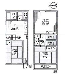 [一戸建] 東京都大田区東雪谷4丁目 の賃貸【/】の間取り