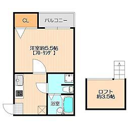コンフォート ベネフィスタウン 六本松[2階]の間取り