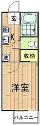 神奈川県川崎市中原区下小田中1丁目の賃貸アパートの間取り