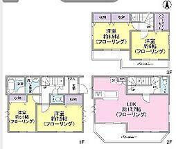 [タウンハウス] 東京都足立区綾瀬5丁目 の賃貸【/】の間取り