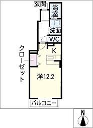サンアプロ−ズ[1階]の間取り