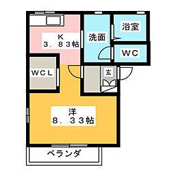 アニマート[2階]の間取り