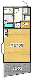 コートルージュ太宰府[104号室]の間取り