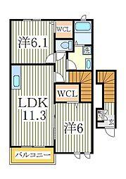 ルヴニール[2階]の間取り