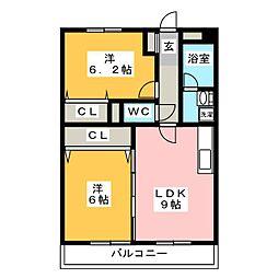 L・City・jun[2階]の間取り