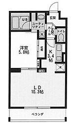 プランドールコリーヌ[1階]の間取り
