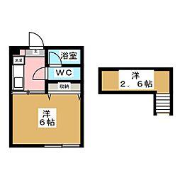 畳屋丁ハイツ[2階]の間取り