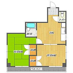KSG KEIYO-SUZUKI Building[401号室]の間取り