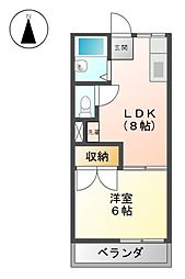 タウニーカトー[1階]の間取り