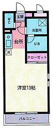 神奈川県大和市鶴間1丁目の賃貸マンションの間取り
