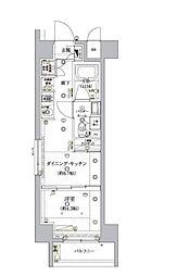 東京メトロ南北線 麻布十番駅 徒歩8分の賃貸マンション 8階1DKの間取り